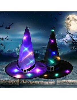 chapeau de sorcière light lumineuse noir et mauve déguisement halloween tahiti fenua shopping
