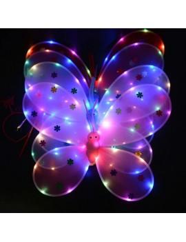 ailes papillon light lumière enfant fille déguisement accessoire halloween tahiti fenua shopping