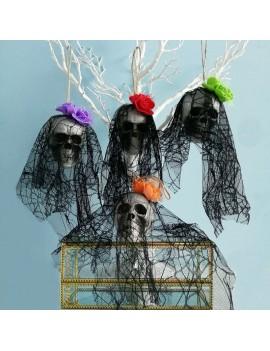 déco tête de mort suspendre rouge mauve vert orange crâne squelette halloween tahiti fenua shopping