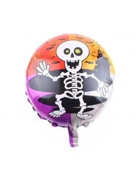 ballon halloween modèle squelette colorée citrouille main chauve souris hélium à gonfler déco halloween tahiti fenua shopping