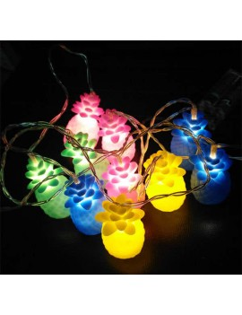lampe guirlande painapo ananas pineapple light string multicolor tropical tahiti fenua shopping