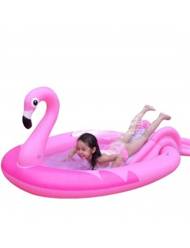 piscine toboggan flamant rose enfants kids fun pool tahiti fenua shopping