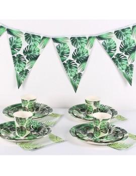 kit fête tropiques tropical anniversaire 6 personnes tahiti fenua shopping
