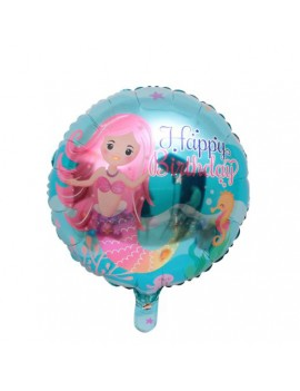 ballon mermaid birthday sirène anniversaire happy birthday décoration fête tahiti fenua shopping