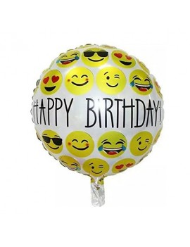 ballon happy birthday emoji smiley anniversaire kids fête tahiti fenua shopping