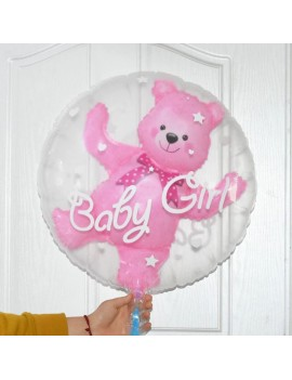 ballon baby bear baby shower bébé fête boy girl rose bleu tahiti fenua shopping