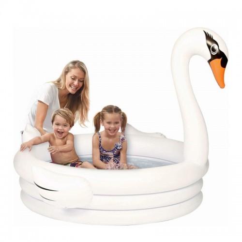 piscine cygne blanc enfants kids eau water fun tahiti fenua shopping
