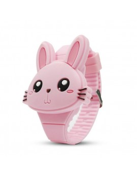 montre clapet lapin rose girls bunny watch heure fun tahiti fenua shopping