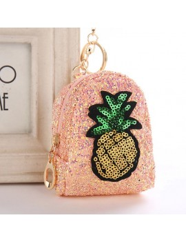 porte-monnaie painapo glitters pineapple ananas bleu doré saumon tropical tropic money accessoire tahiti fenua shopping