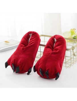 chaussons enfant dragon rouge griffes pattes tahiti fenua shopping