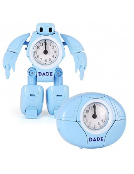 réveil robot bleu alarme clock wake up kids tahiti fenua shopping