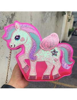 sac bandoulière licorne rose rainbow fille girls unicorn bag tahiti fenua shopping