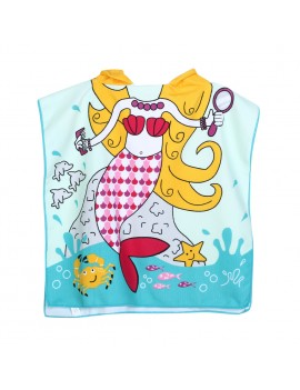peignoir plage mermaid sirène kids fille plage serviette doux microfibre tahiti fenua shopping