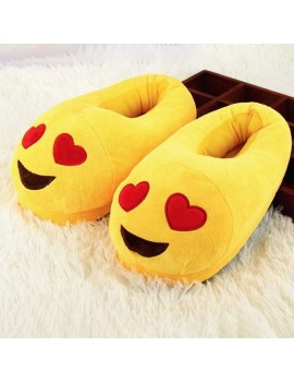 chaussons pantoufles emoji chaud jaune sleeper love tahiti fenua shopping