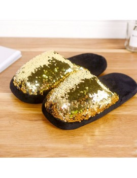 chaussons pantoufles sleeper sequins sparkle gold doré tahiti fenua shopping