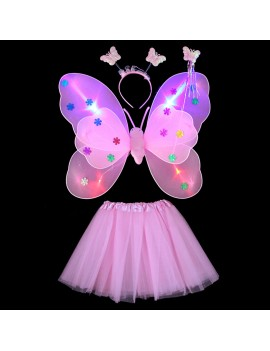 set ailes papillon light lumière butterfly wings kids girls jupe tahiti fenua shopping