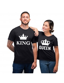 tshirt couple queen king valentine's day couple goal partenaire royal tahiti fenua shopping