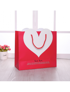 sachet coeur color love heart gift bag cadeau surprise amour rouge blanc tahiti fenua shopping