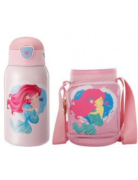 thermos sirène mermaid kids enfant frais acier inoxydable isotherme girl pink rose tahiti fenua shopping