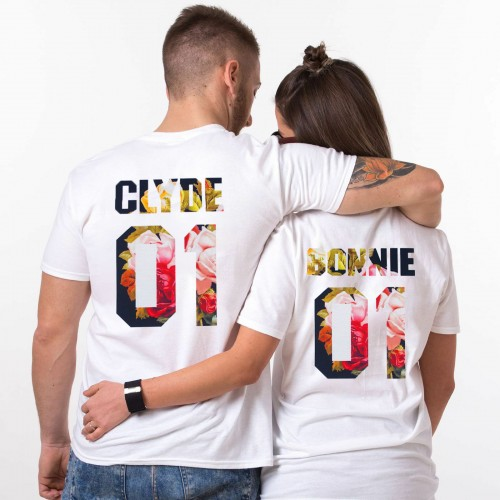 t-shirt couple bonnie and clyde blanc amour love garçon fille vêtement tahiti fenua shopping