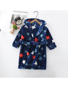 peignoir étoile gris bleu stars bathrobe kids enfants cute mignon bain maison tahiti fenua shopping