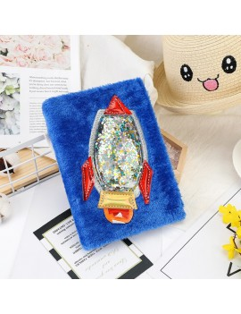 notebook fluffy blue rocket notes papeterie galaxie galaxy garçons kids bleu doux peluche plush tahiti fenua shopping