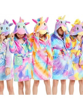 peignoir licorne rainbow couleur bathrobe unicorn kids enfant vêtement tahiti fenua shopping
