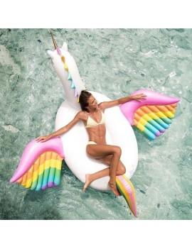 bouée matelas licorne XXL géant unicorn pool float rainbow piscine plage beach summer tahiti fenua shopping