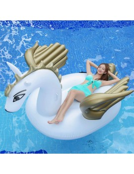 bouée matelas pégaze gold doré or pool float piscine plage beach summer tahiti fenua shopping