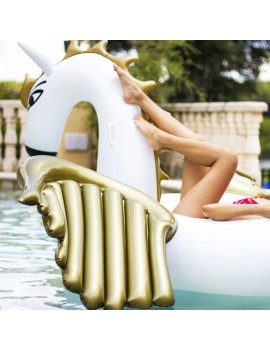 bouée matelas pégaze gold doré or pool float piscine plage beach summer tahiti fenua shopping