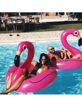 bouée anneau flamant rose pool float piscine plage beach flamingo pink tahiti fenua shopping