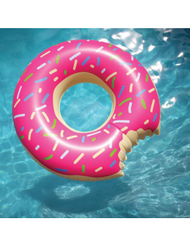 bouée donut anneau ring pool float rose pink piscine plage summer tahiti fenua shopping