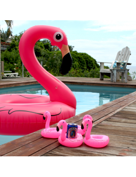 porte gobelet flamant rose flamingo verres glass tropicale tropical pool float piscine plage beach tahiti fenua shopping