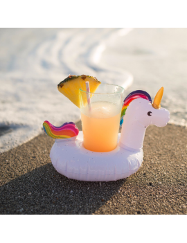 porte gobelet licorne unicorn pool float glass verres piscine plage beach tahiti fenua shopping