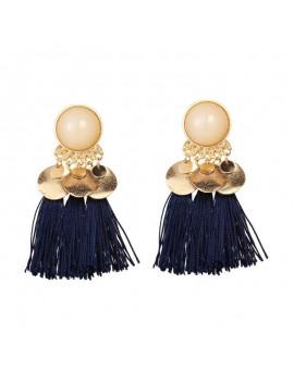 boucles d'oreilles pompon gold bleu rouge blue red bijoux jewelry accessoires beauté tahiti fenua shopping