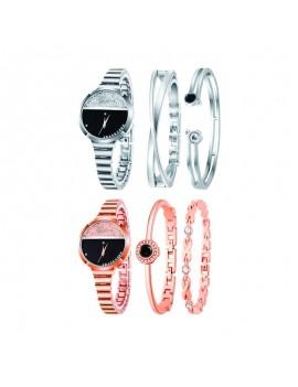 set montre bracelet bijoux jewelry accessoires argenté argent rose gold or doré heure watch pack tahiti fenua shopping