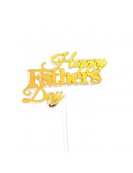 top cake gold happy father's day fête party pères gâteau or doré accessoire tahiti fenua shopping