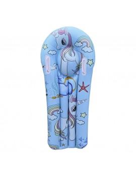 bouée planche kids licorne pool float blue bleu unicorn piscine plage beach tahiti fenua shopping