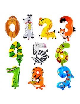 ballon chiffre kids animaux animal anniversaire fête party enfant tahiti fenua shopping