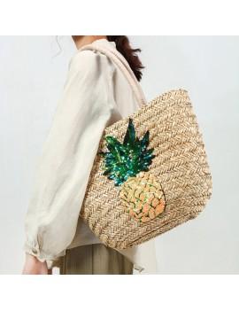 sac painapo pineapple ananas paille bag plage summer pool beach tahiti fenua shopping