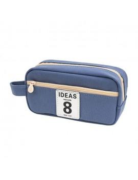 trousse lucky bleu blue pen stylo fournitures rangement bag school école tahiti fenua shopping