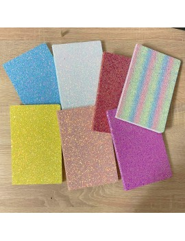cahier glitters rainbow colors notes notebook carnet papeterie school école notes tahiti fenua shopping