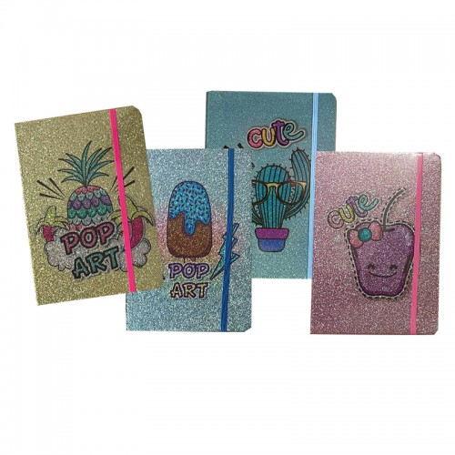 notebook pop glitters carnet cahier notes papeterie paillettes school kids tahiti fenua shopping
