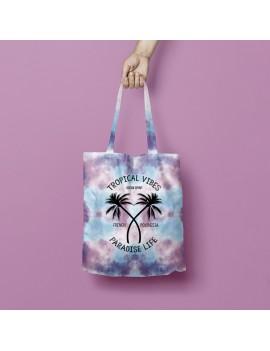 tote bag coton rainbow sac souvenir tahiti polynésie island paradise beach tropical vibes fenua shopping