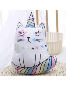 coussin kids chat pillow cat multicolore colors kids enfant déco chambre maison tahiti fenua shopping