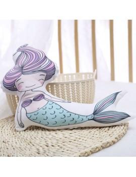coussin kids mermaid pillow sirène multicolore colors kids enfant déco chambre maison tahiti fenua shopping