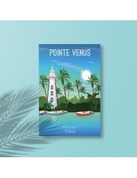 toile A2 pointe venus chassis polynésie tahiti souvenir déco deco maison peinture art fenua shopping