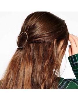 barrette géométrique triangle cercle gold or doré accessoire clip cheveux beauté tahiti fenua shopping