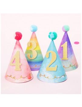 chapeau birthday age color rainbow happy joyeux anniversaire kids party fête tahiti fenua shopping