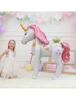 ballon licorne xxl rose pink large big unicorn balloon party fête tahiti fenua shopping
